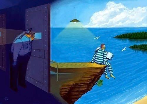 """""""No hay barrera, cerradura ni cerrojo que puedas imponer a la libertad de mi mente""""."""