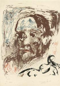 Retrato de Sigmund Freud por Salvador Dali