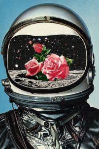 astronauta flor
